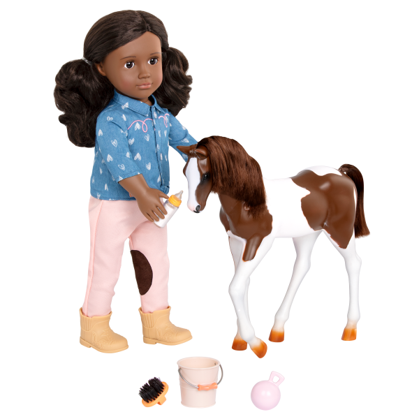 18-inch Equestrian Doll Daveen Blonde Horse Play