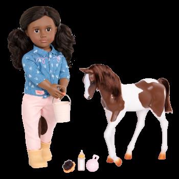18-inch Equestrian Doll Daveen & Horse
