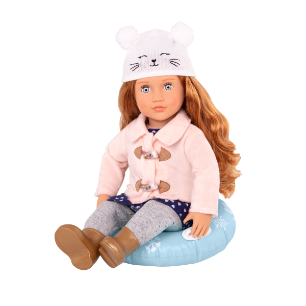 Out In The Snow Sled Accessories for 18-inch Dolls Winter Holiday