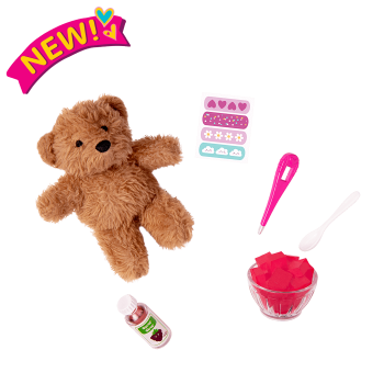 Snuggle & Snuffle Teddy Bear Set for 18-inch Dolls