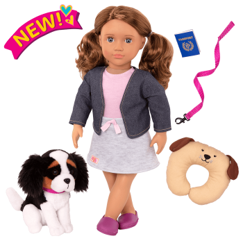 18-inch Doll and Pet Set Maddie & Plush Dog