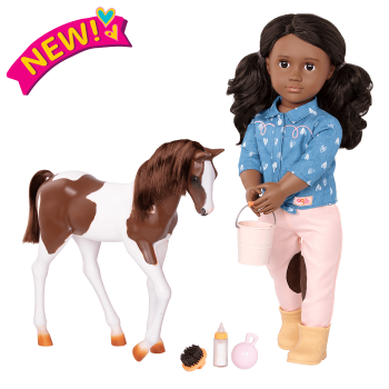 18-inch Equestrian Doll Daveen & Horse