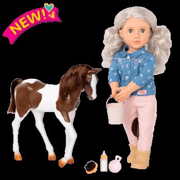 18-inch Equestrian Doll Yanira & Horse