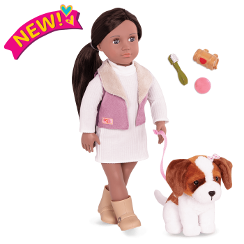 18-inch Doll and Pet Set Kinzie & Plush Dog