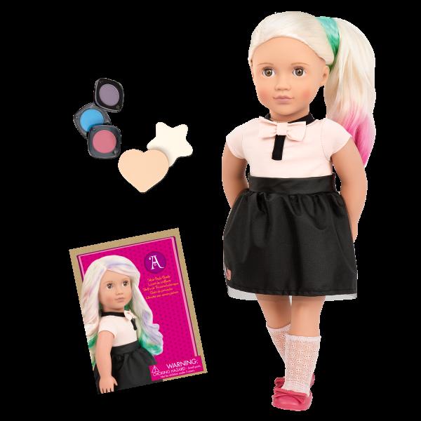 Amya 18-inch Hair Chalk Deco Doll