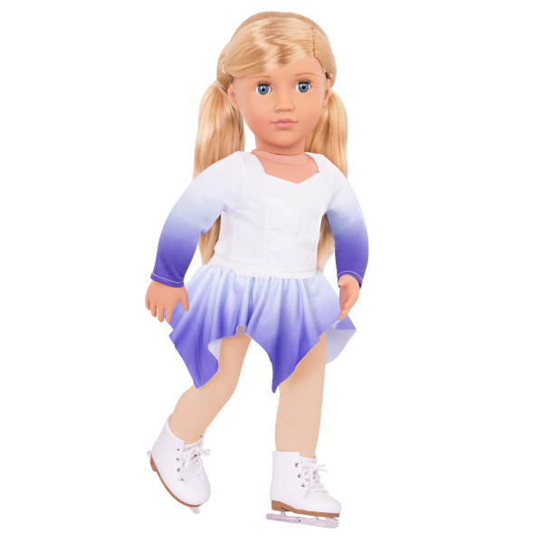 Katelyn wearing figure skating outfit