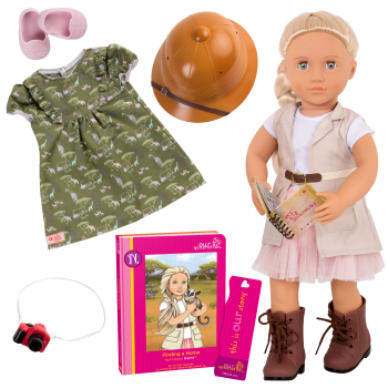 Naya 18-inch Deluxe Doll with Safari Outfit and Storybook