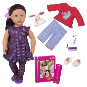 Willow Deluxe 18-inch Sleepover Doll with Storybook