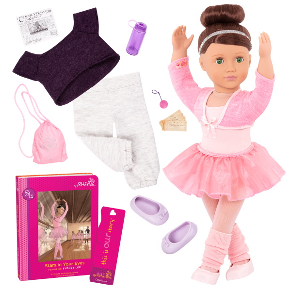 Sydney Lee Deluxe 18-inch Ballet Doll with Storybook