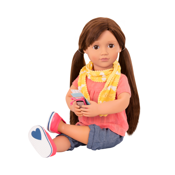 Reese Posable 18-inch Doll Sitting