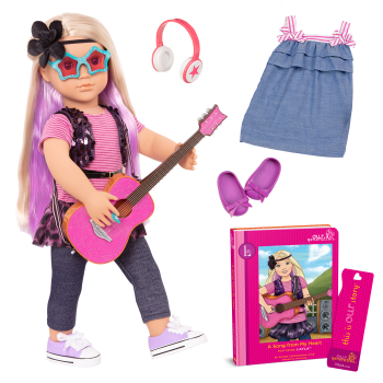 Layla Deluxe 18-inch Musician Doll with Storybook