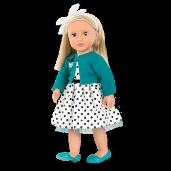 Ruby Retro 18-inch Doll with Polka Dot Dress