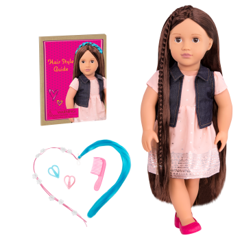 BD31204 NEW Kaelyn Hair Play Doll all components