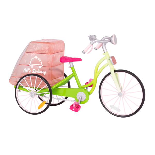 OG Delivery Bike for 18-inch Dolls Bicycle Accessory