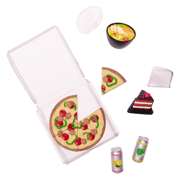 OG Delivery Bike for 18-inch Dolls Pizza Play Food Set