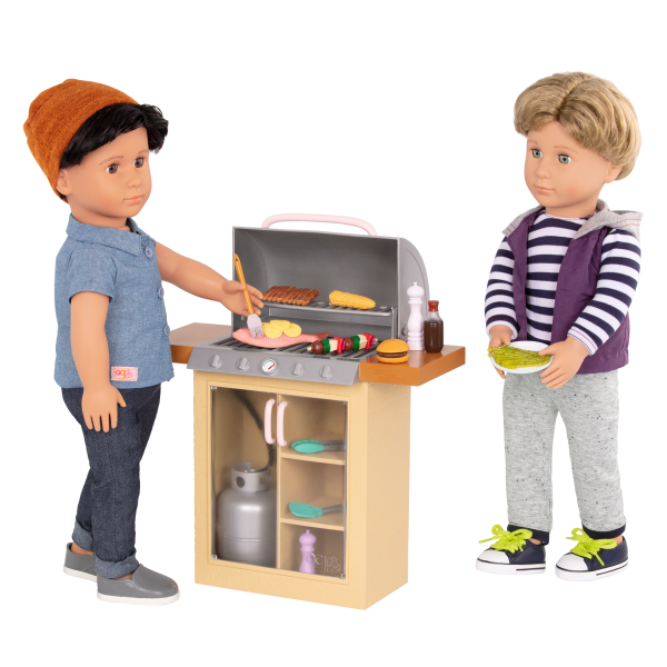 Backyard Grill BBQ Playset 18-inch Doll Franco Raphael