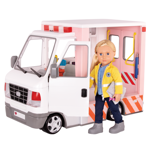 Rescue Ambulance 18-inch Doll Vehicle Playset Kaylin