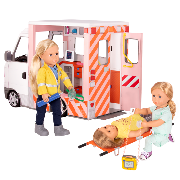 Rescue Ambulance 18-inch Doll Vehicle Medical Play
