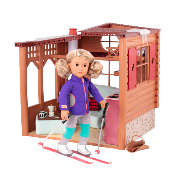 Cozy Cabin Dollhouse Playset with 18-inch Doll Noelle