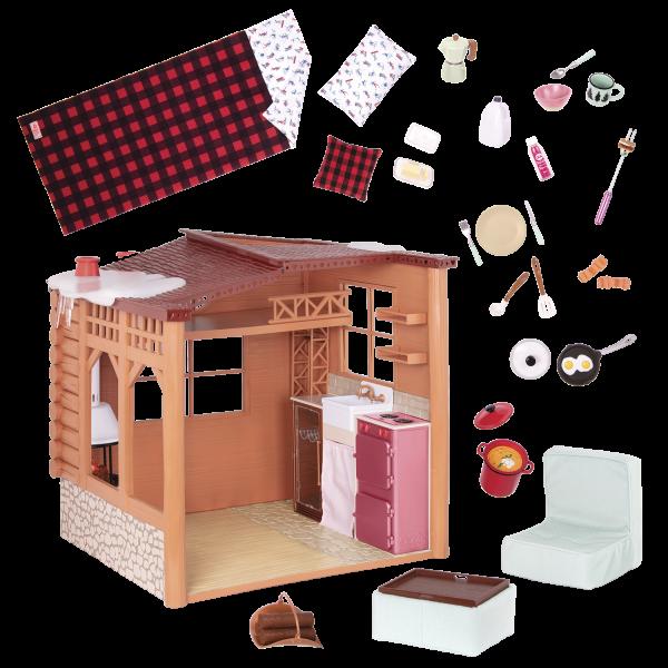 Cozy Cabin Dollhouse Playset for 18-inch Dolls