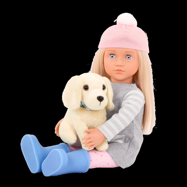 18-inch Doll Meagan & Plush Dog