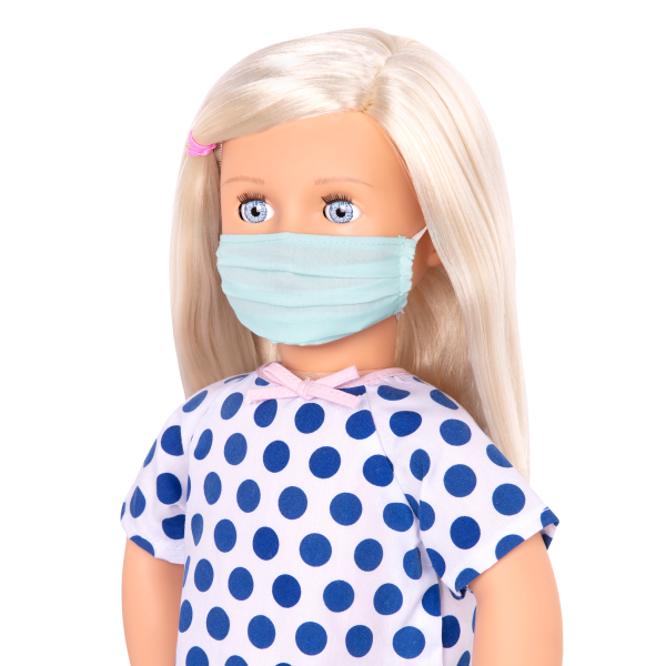 18-inch Posable Doll Martha Face Mask