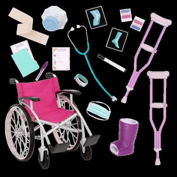 18-inch Doll Martha & Wheelchair Medical Accessories