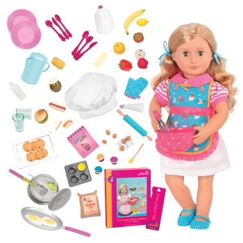18-inch Doll Jenny & R.V. Seeing You Camper Food Playset Bundle