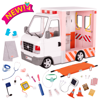 Rescue Ambulance 18-inch Doll Vehicle Playset