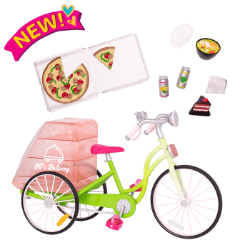 OG Delivery Bike for 18-inch Dolls