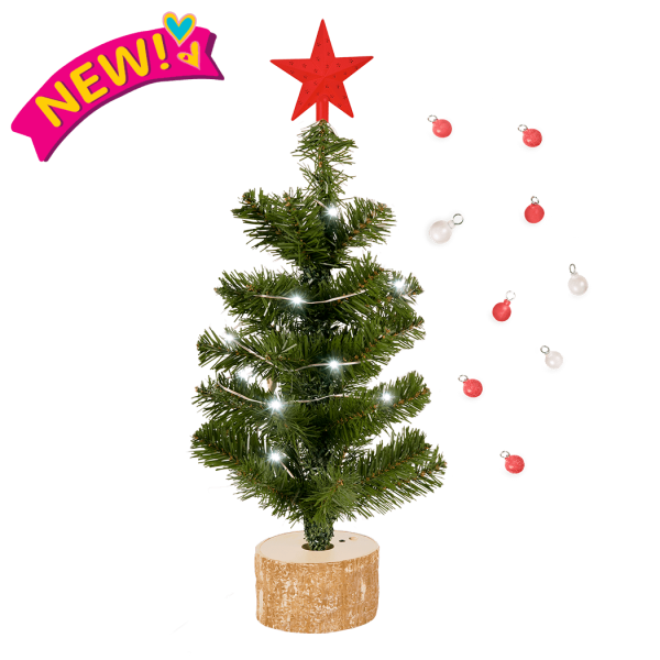Merry & Bright Holiday Tree for 18-inch Dolls