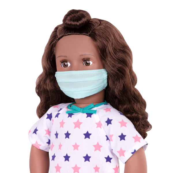 Keisha Posable 18-inch Doll Face Mask