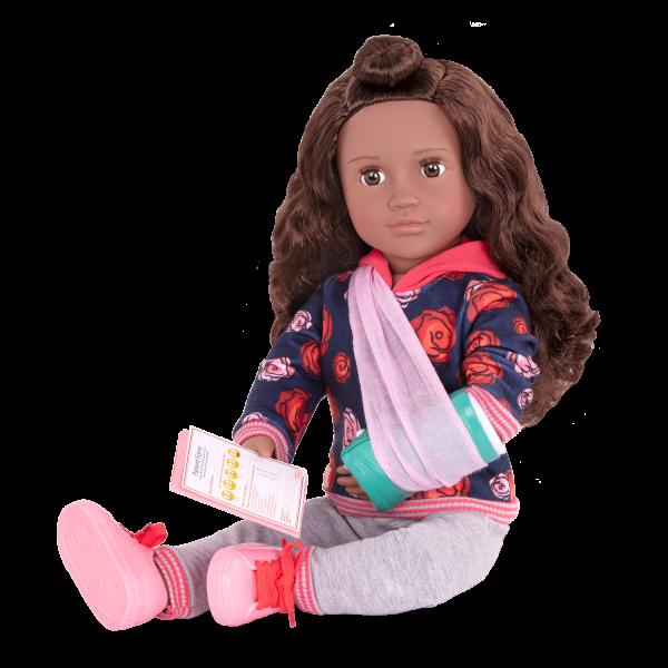 Keisha Posable 18-inch Doll Arm Cast