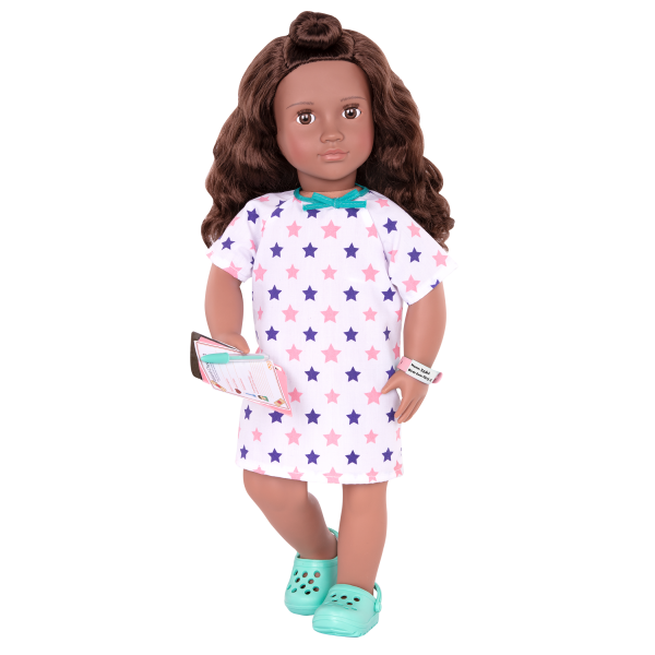 Keisha Posable 18-inch Doll Hospital Gown