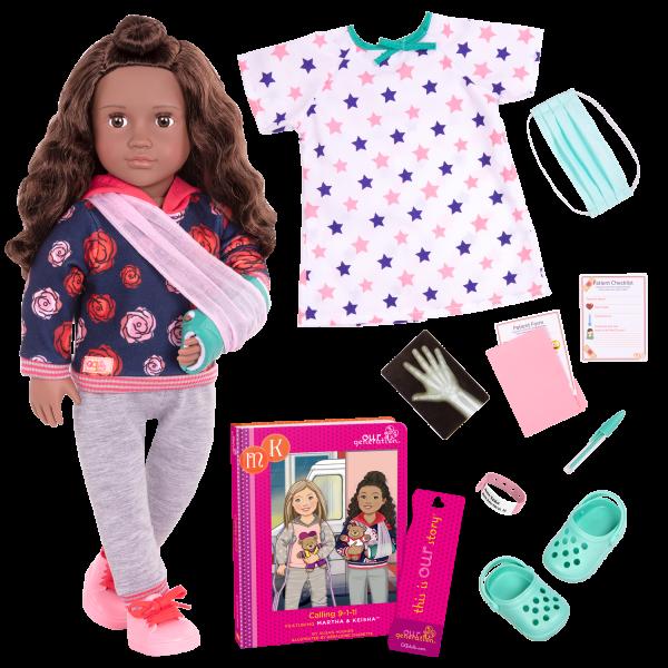 Keisha Posable 18-inch Hospital Doll