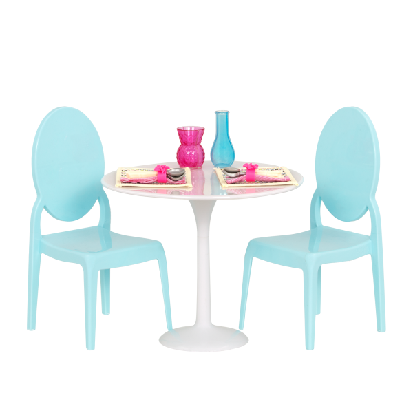 Table for Two Furniture Set for 18-inch Dolls