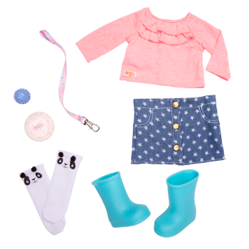 Playful Pickup Pet Outfit for 18-inch Dolls