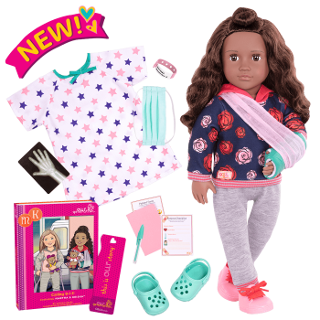 Keisha Posable 18-inch Hospital Doll
