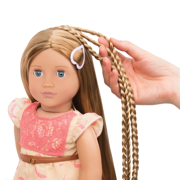BD31073 Portia Hairplay Doll hair extension detail