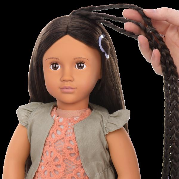 Detail of extendable braids