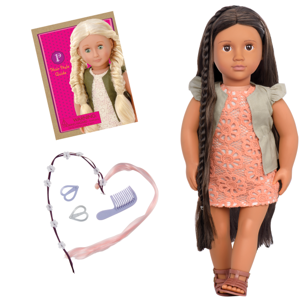 Flora 18-inch Hairplay Doll with Braids