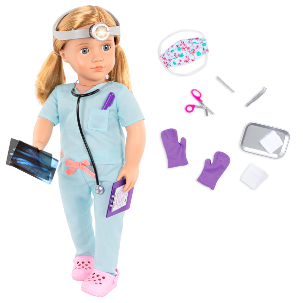 18-inch Doctor Doll Tonia