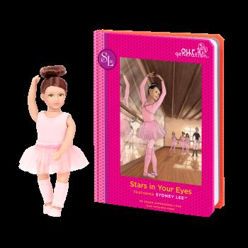 Read and Play Set 6-inch Mini Doll Sydney Lee