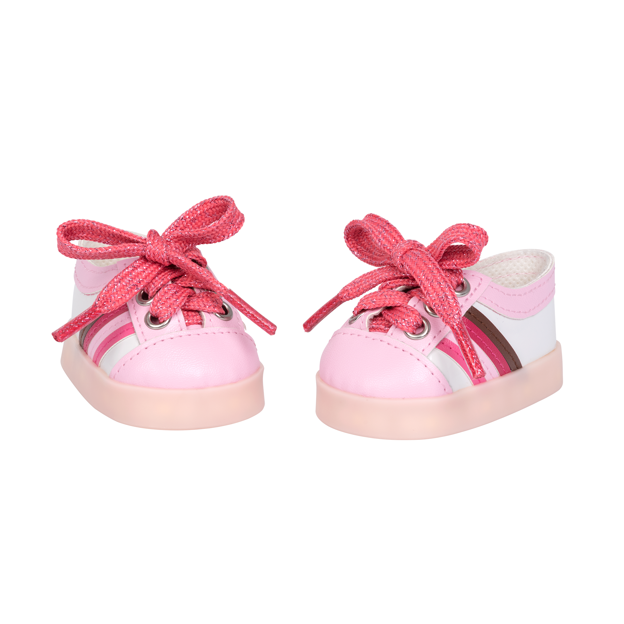 Rainbow Delight Light-Up Shoes for 18-inch Dolls
