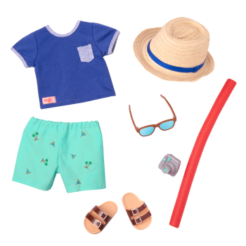By the Beach Swimsuit Outfit for 18-inch Dolls
