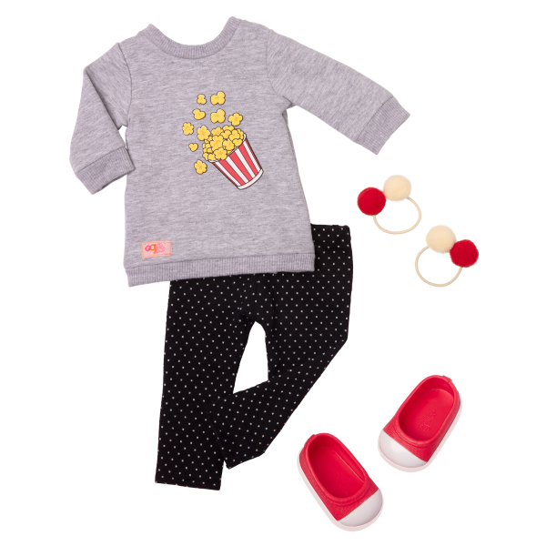 Pop-Pop Top Popcorn Outfit for 18-inch Dolls