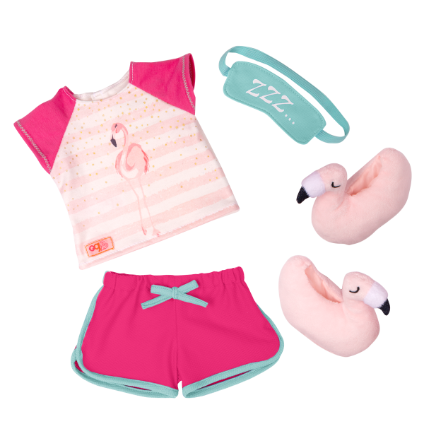 Flamingo Dreaming Pajama Outfit for 18-inch Dolls
