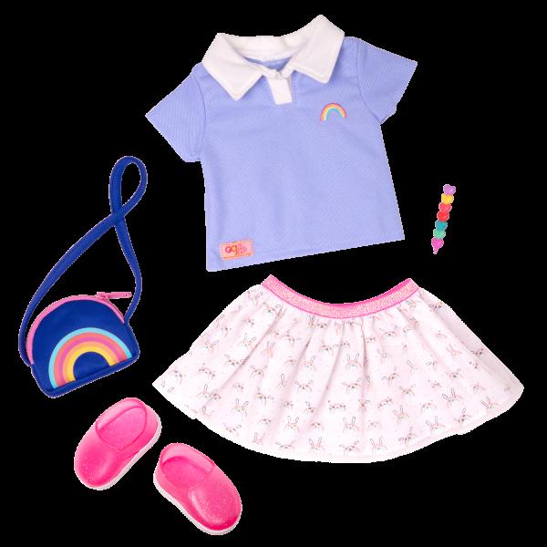 Rainbow Academy School Outfit for 18-inch Dolls