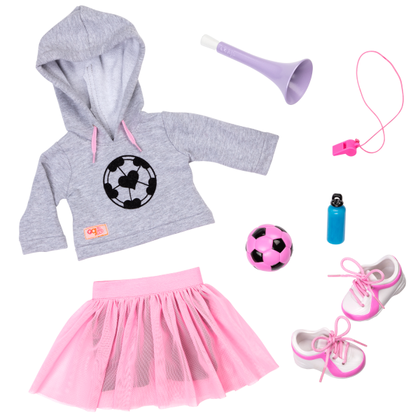 Fashion Goals Soccer Outfit for 18-inch Dolls