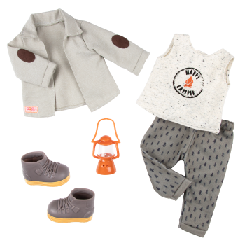Campsite Delight Camping Outfit for 18-inch Dolls